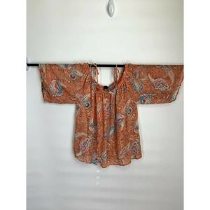 I Jeans by Buffalo Cold-Shoulder Blouse Size XL